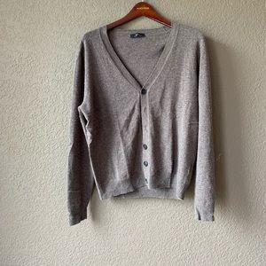 Alpha Massimo Rebecchi Brn wool/cashmere cardigan
